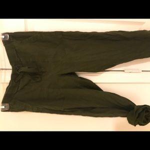 Lou & Grey Pants - Cargo green jogger casual pants